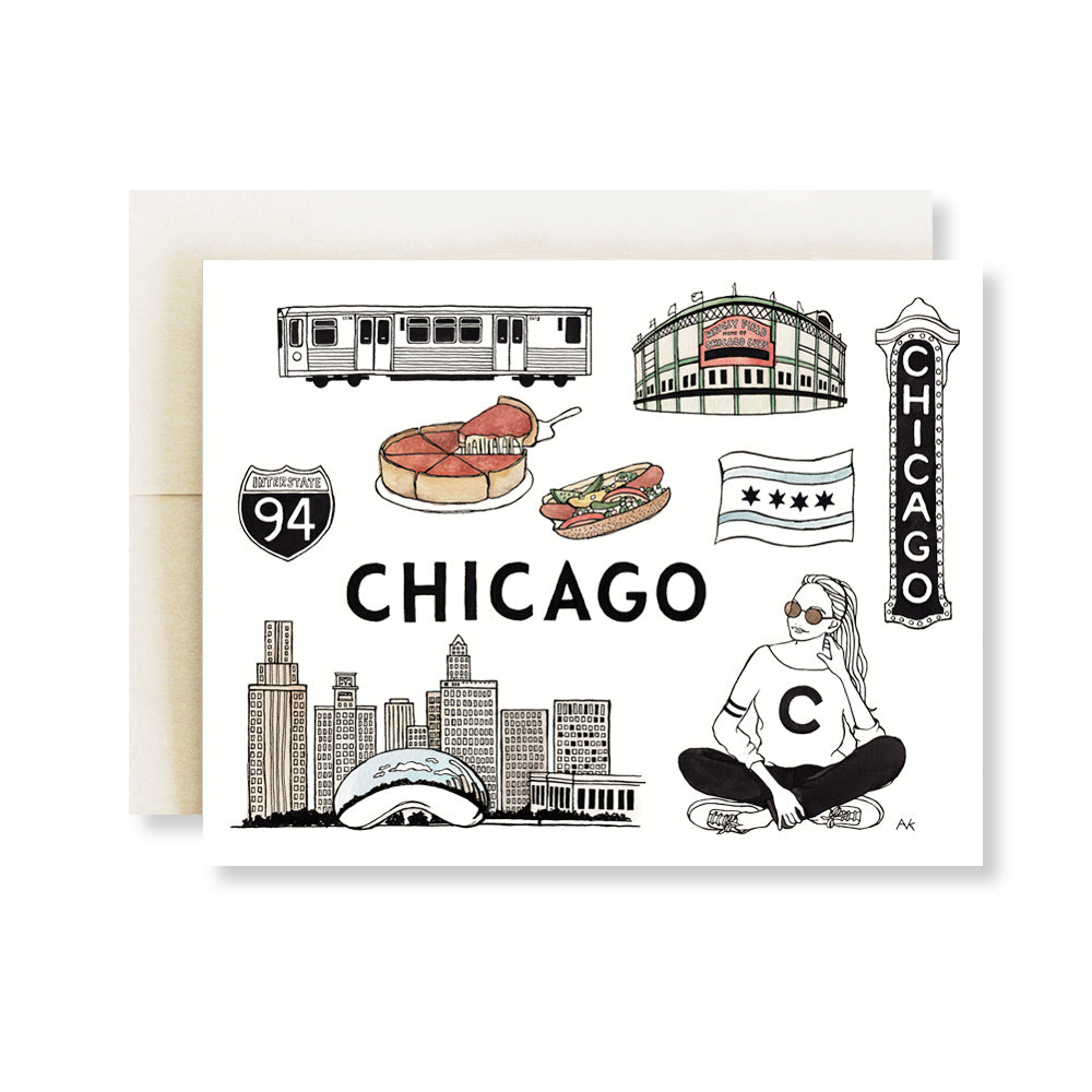 chicago illustration card