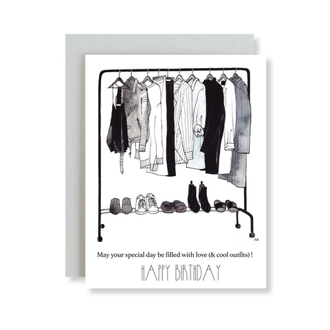closet fashion illustration card