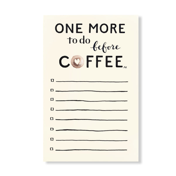 coffee to do notepad