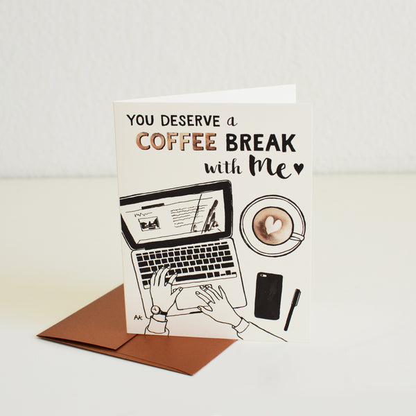 Coffee Break with Me Card