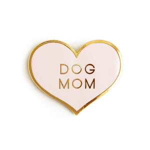 dog mom enamel pin