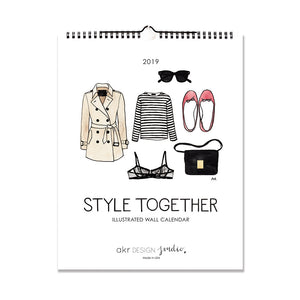 2019 fashion wall calendar