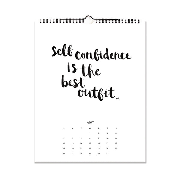 inspiration quotes wall calendar