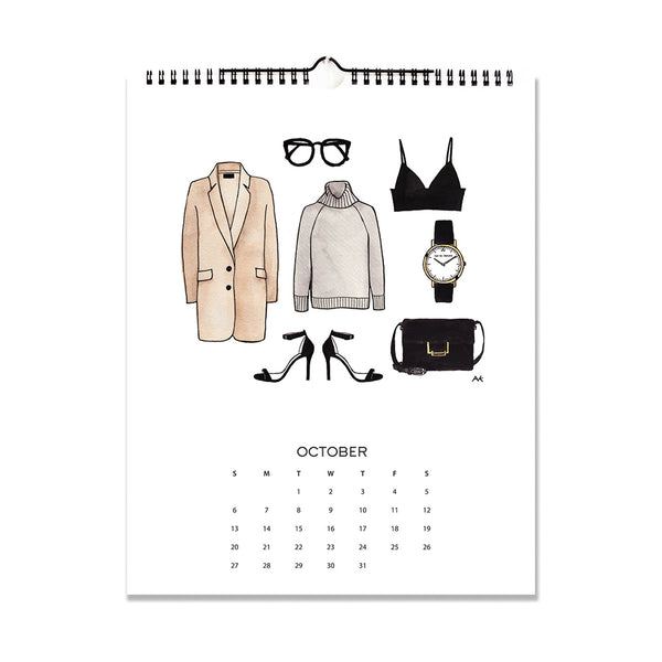 fashion drawing calendar