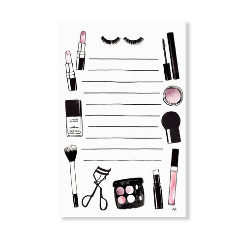beauty makeup notepad