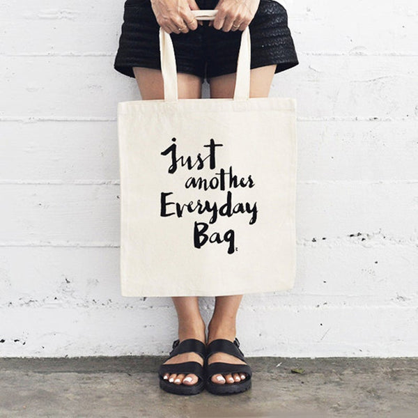 Everyday Flat Tote Black