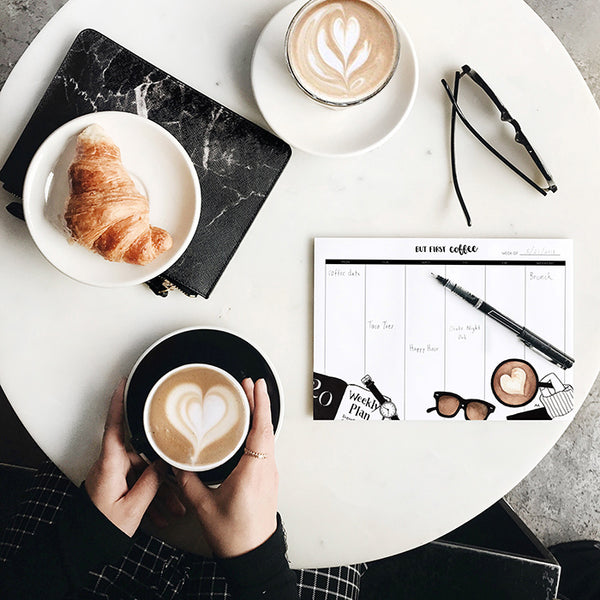 Weekly Planner Coffee Notepad
