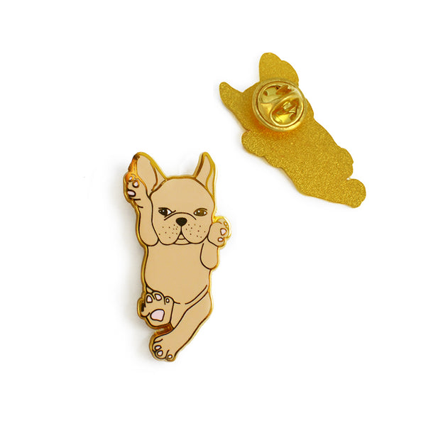 Fawn French Bulldog Enamel Pin