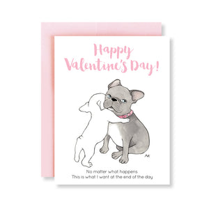 french bulldog funny valentines day card