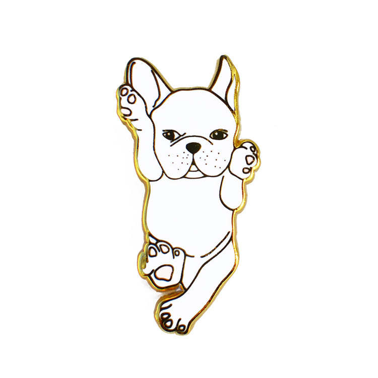 french bulldog enamel pin