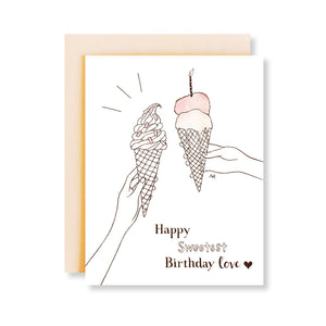 ice cream happy sweetest birthday card