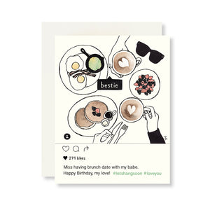 instagram fashion illustration funny birthday card