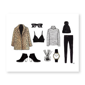 leopard jacket fashion illustration