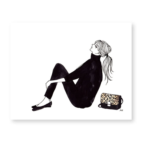 fashion illustration wall decor