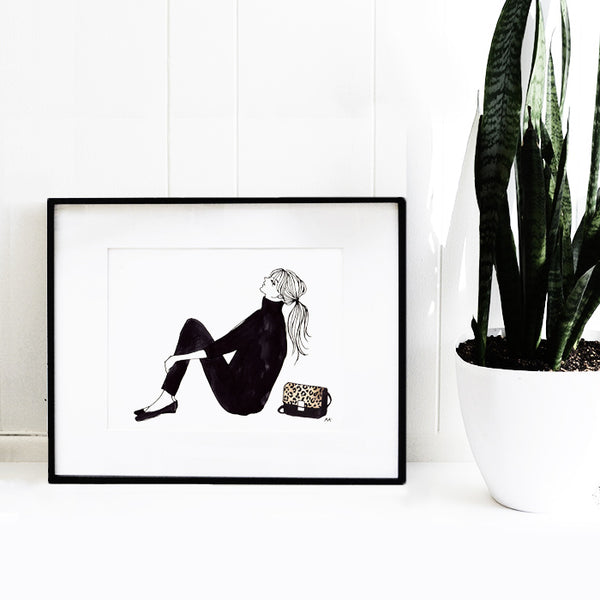 fashion woman art print