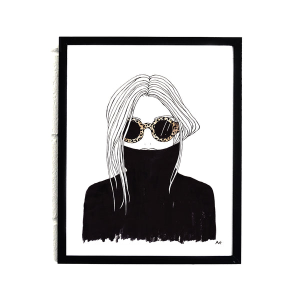 fashioin illustration wall print