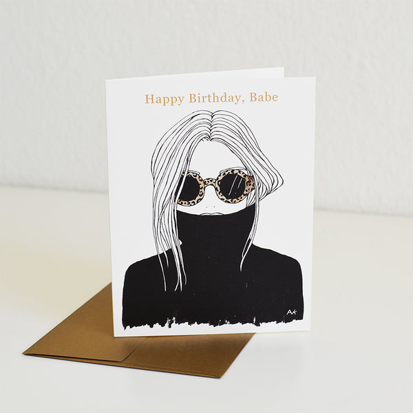 Leopard Shade Birthday Card