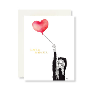 Love in the Air Card w. Gold Foil