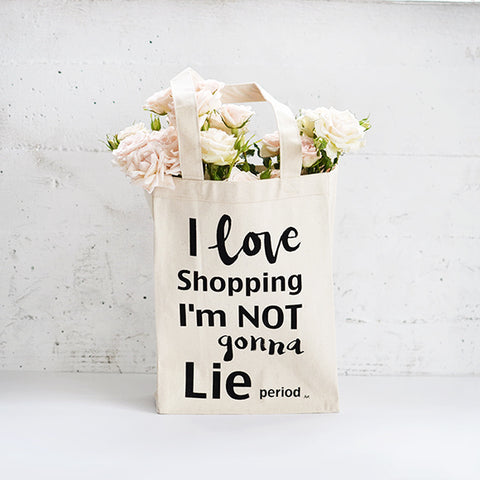 I Love Shopping Heavy Tote Natural