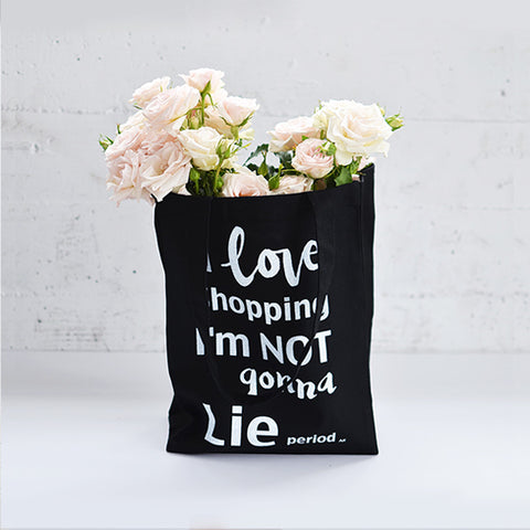 I Love Shopping Heavy Tote Black