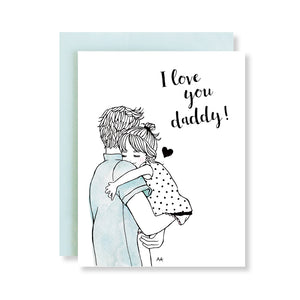 i love you daddy fathers day card from daughter