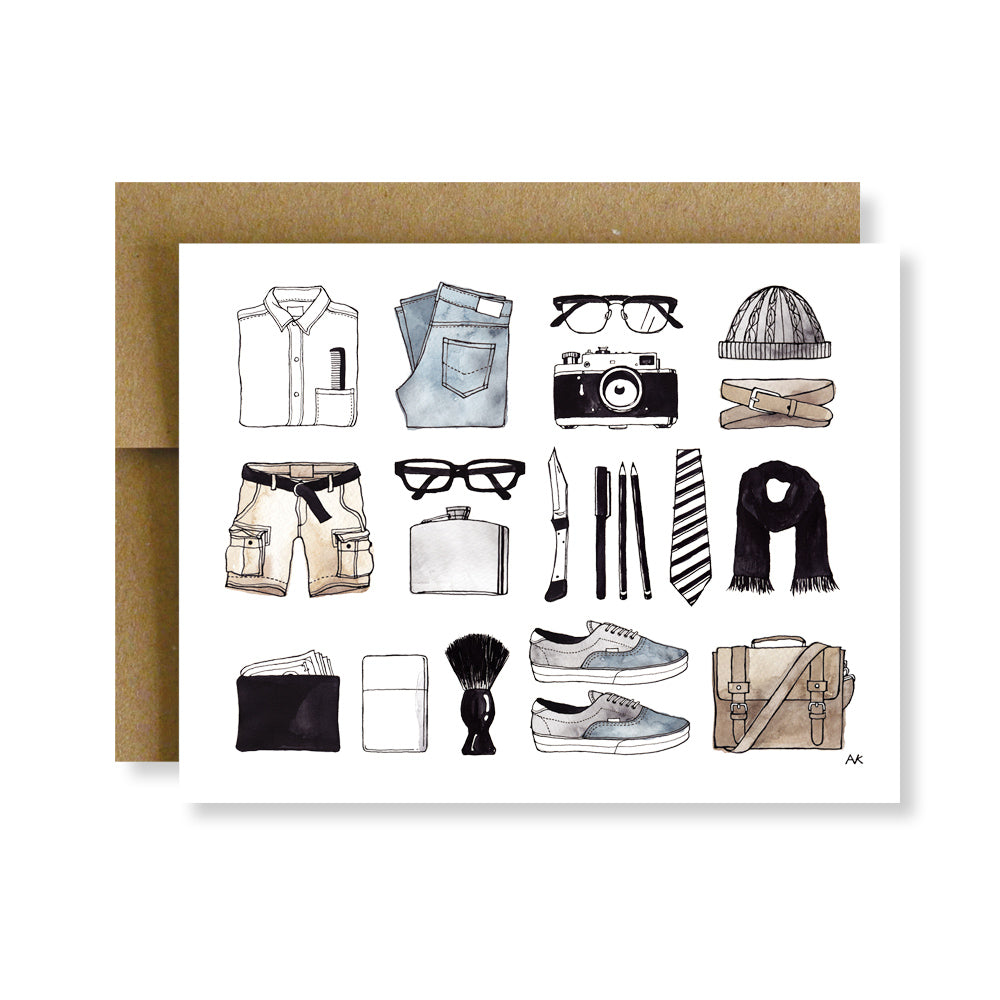 mens fashion items card