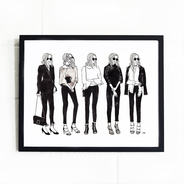 minimal style fashion girl wall decor