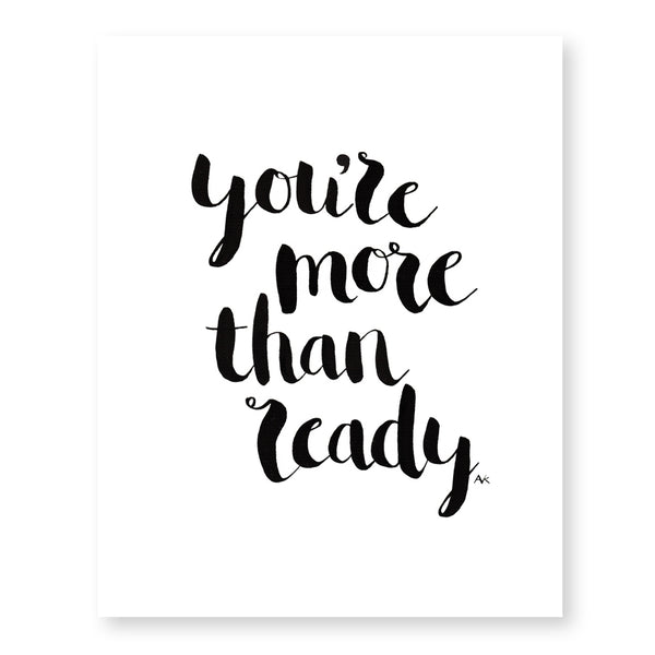 you're ready inspiration wall art