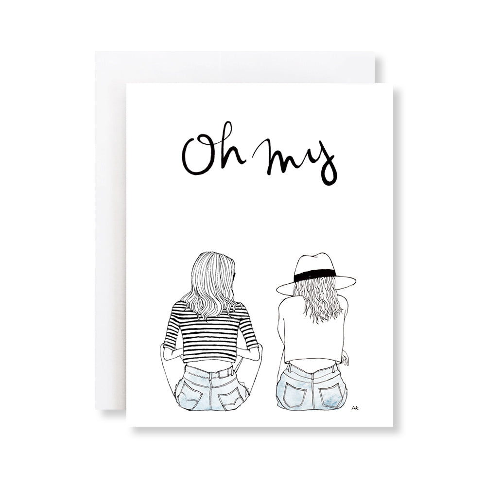 oh my card for best friend, sister, mom and daughter