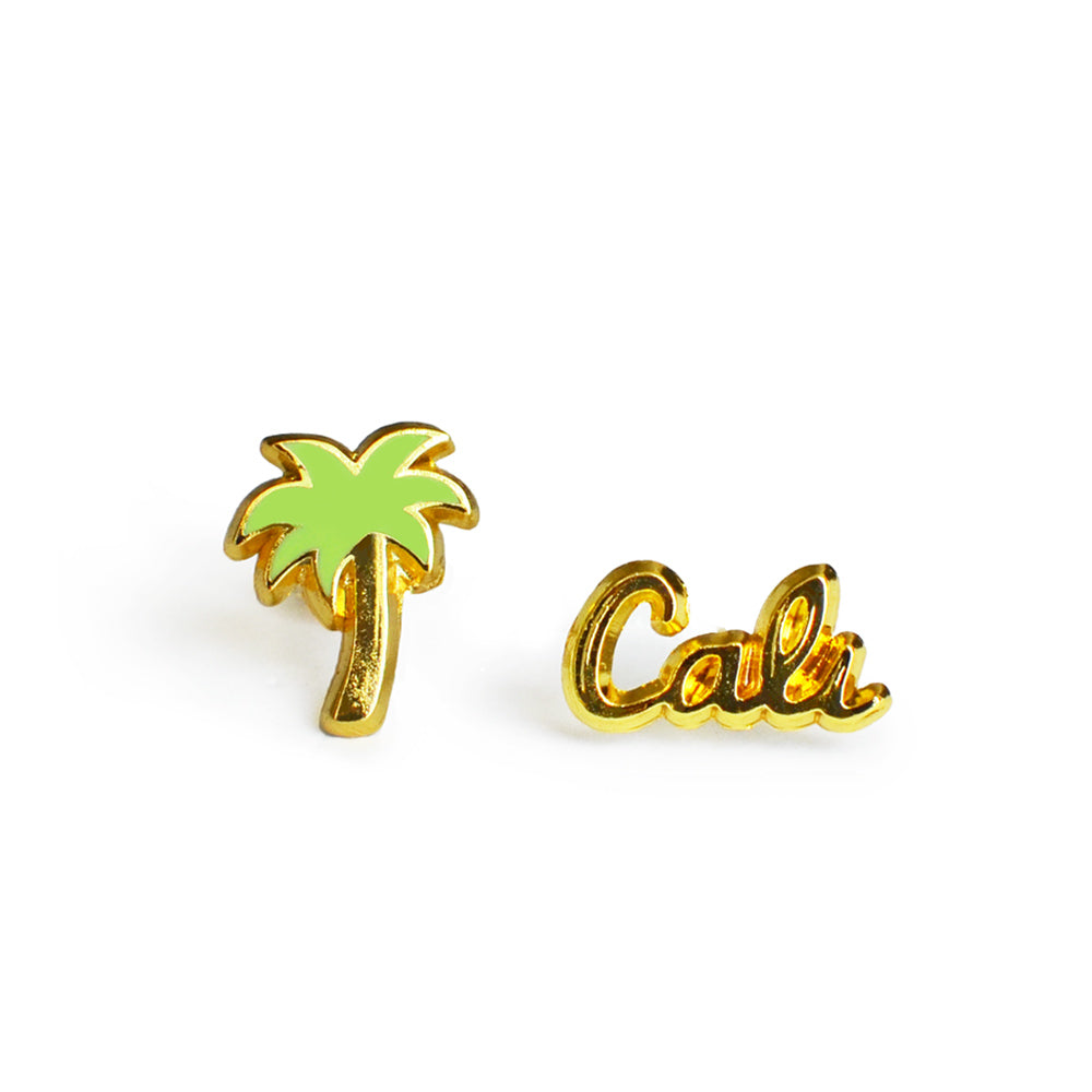 palm tree and cali earrings