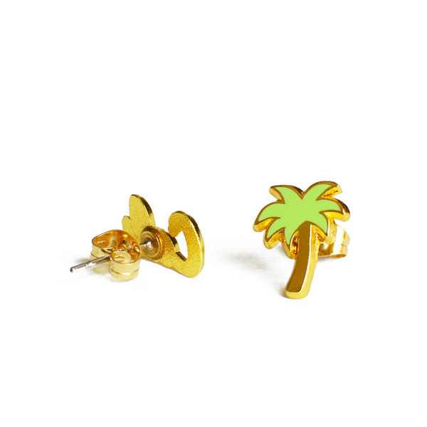 palm tree and california earrings