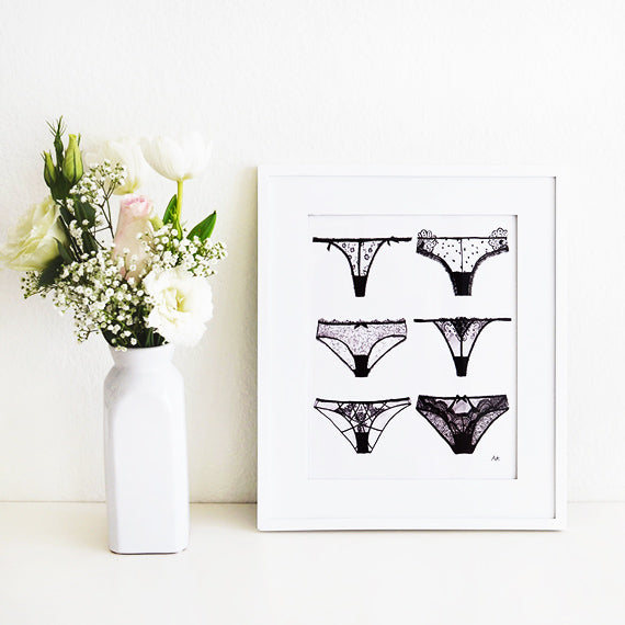 lingerie wall decor