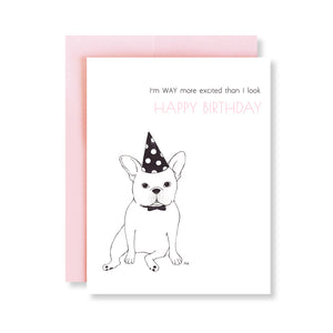 french bulldog funny birthday card