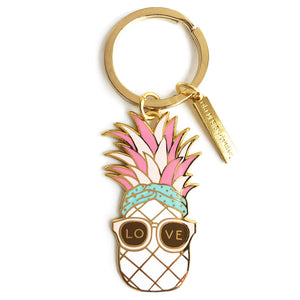 pineapple love keychain
