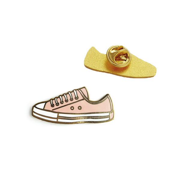 Pink Shoe Enamel Pin