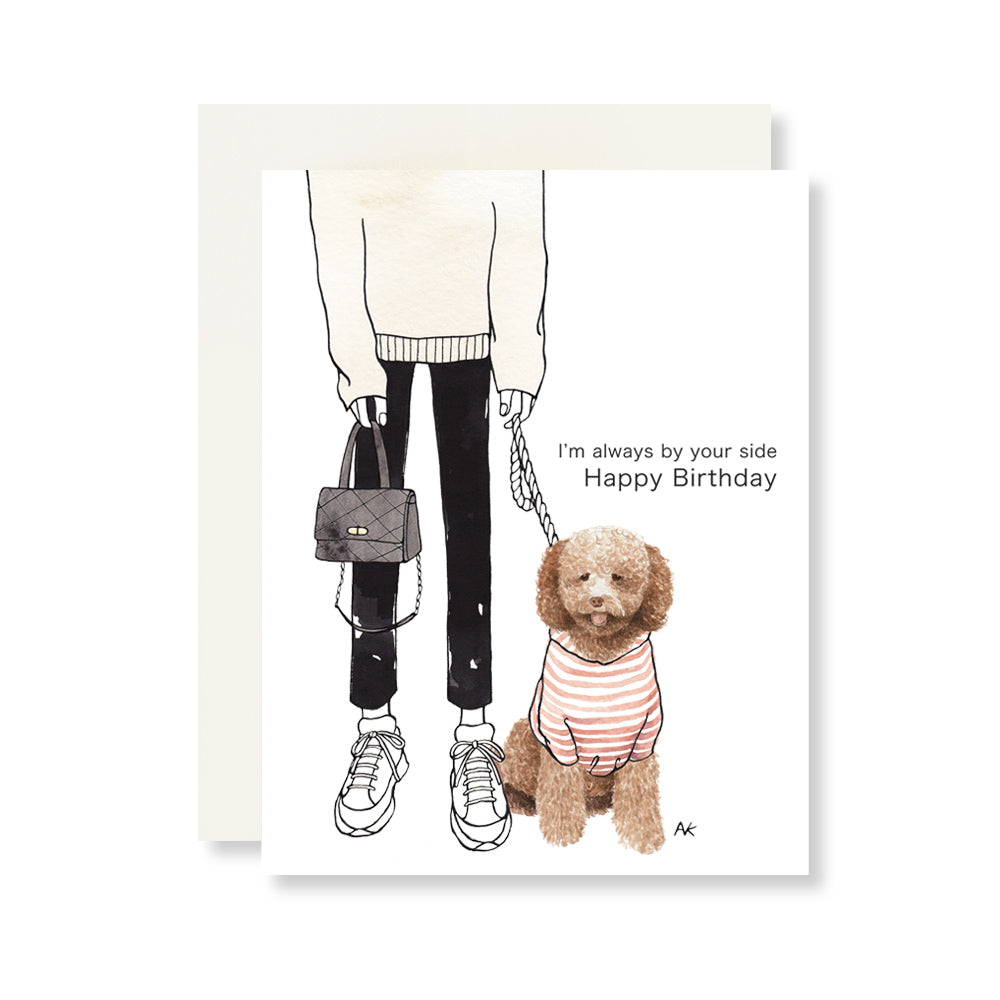 poodle dog birthday card