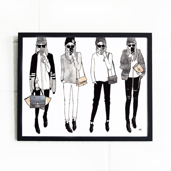 fashion girls wall art decor