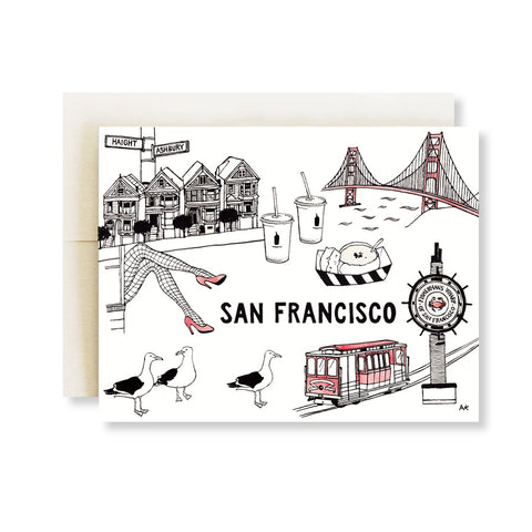 san francisco illustration card