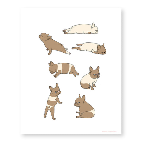 Suntan Frenchie Art Print