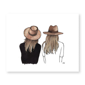 best friend fashion illustration art print