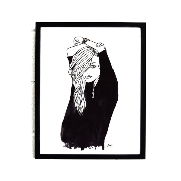 woman fashion illustration print