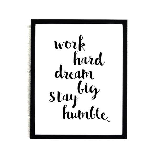 motivational quote art print