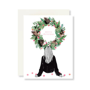 fashion girl illustration christmas card