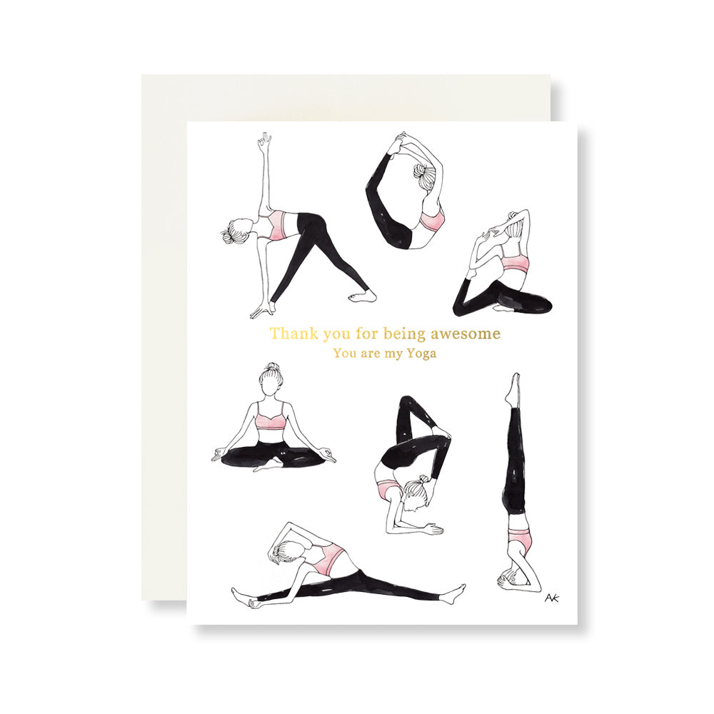 yoga thank you card