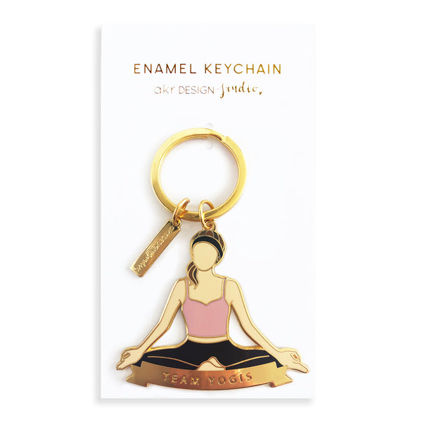 Team Yogis Keychain - Brown