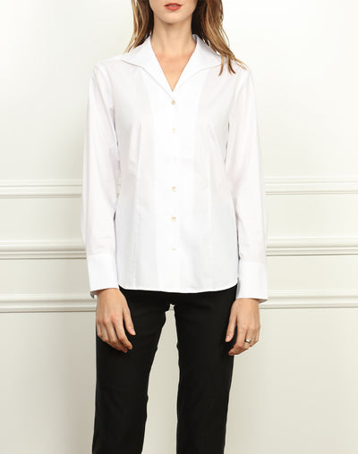 THE DONNA CLASSIC WING COLLAR WHITE SHIRT
