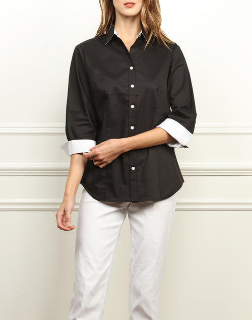 THE DIANE SHIRT - BLACK