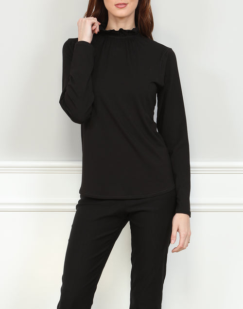 GEORGIA TOP - BLACK