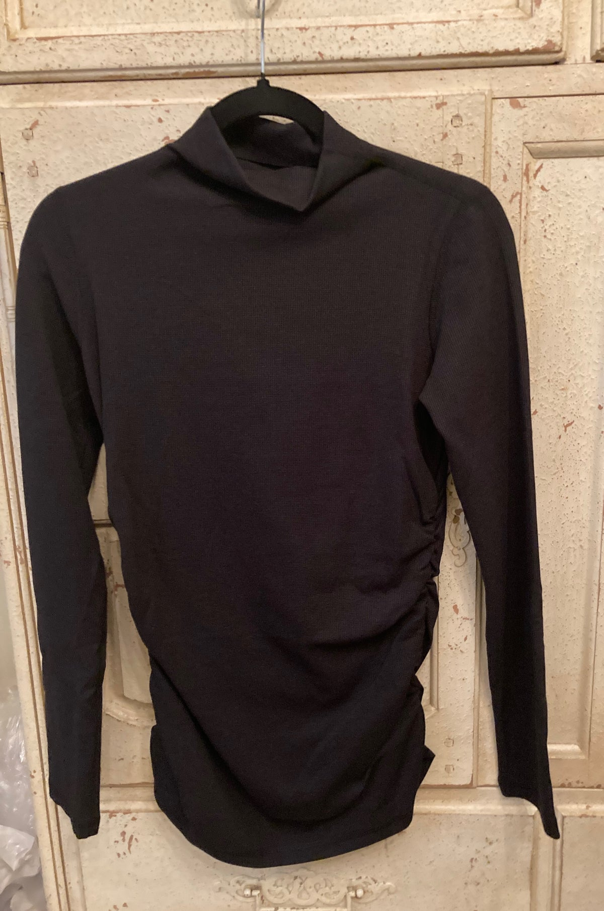 BERMUDA THERMAL MOCK TURTLENECK IN BLACK
