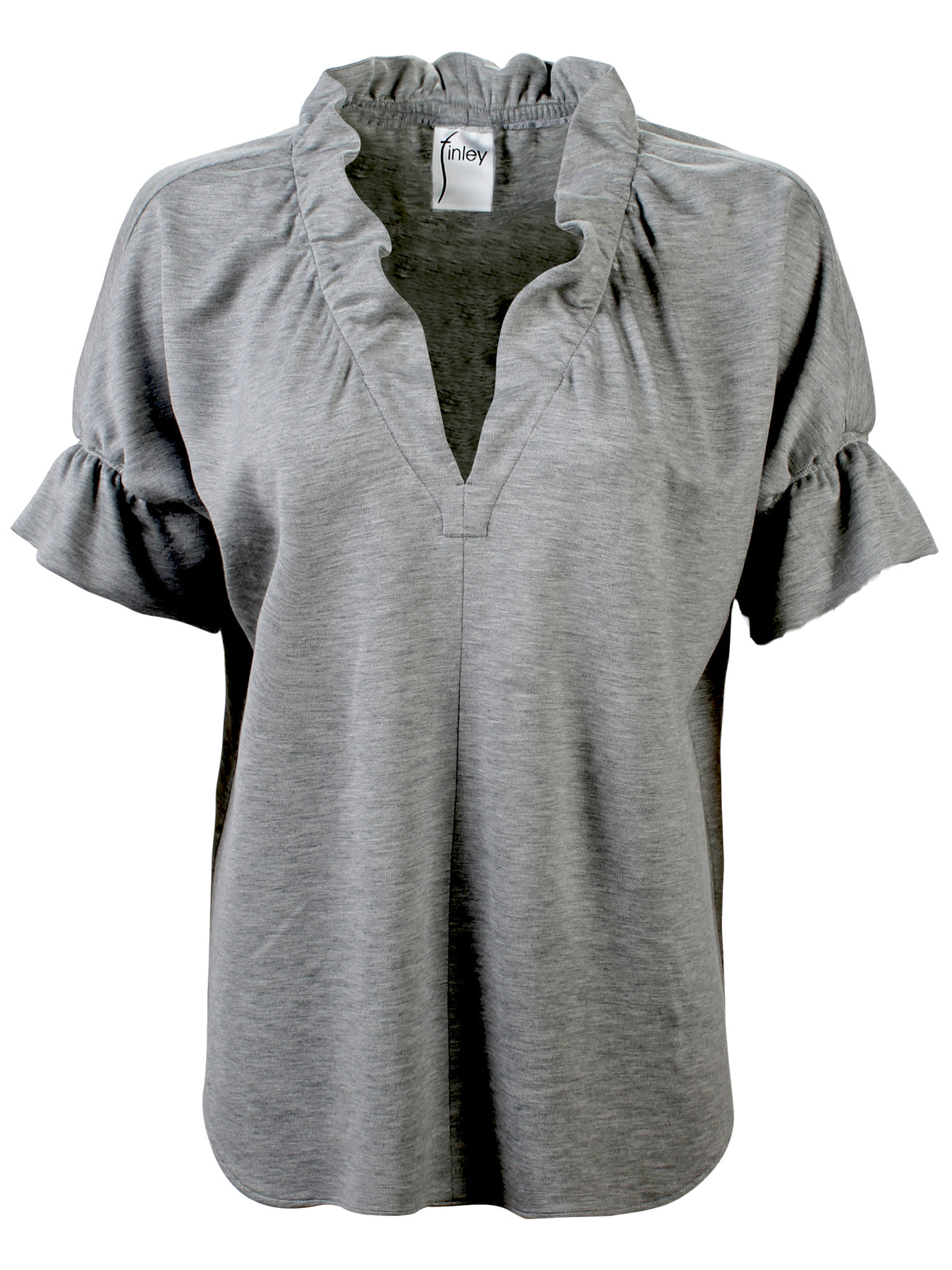 CROSBY TOP GREY MELANGE KNIT